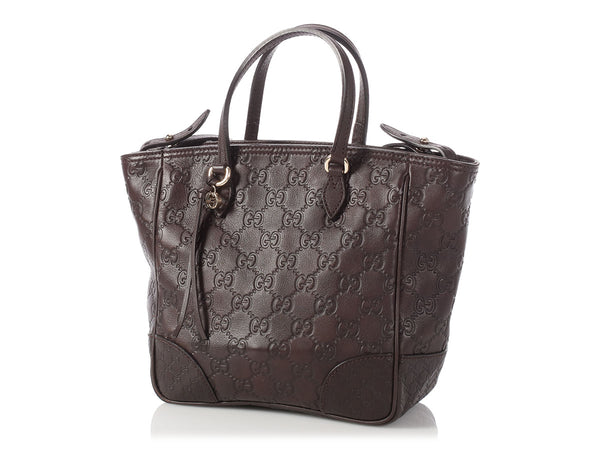 Gucci Small Brown Guccissima Bree Tote