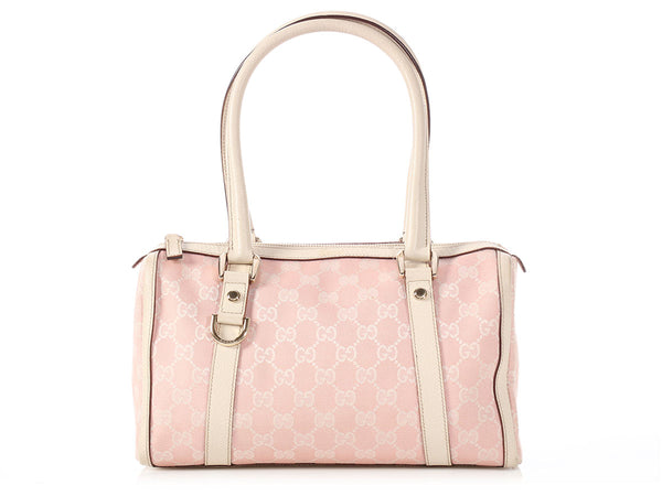 Gucci Pink Monogram Boston Bag