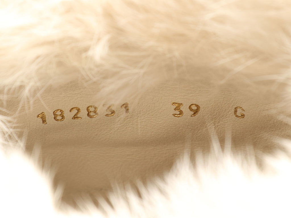 Gucci Off White Fur Trimmed Hysteria Boots