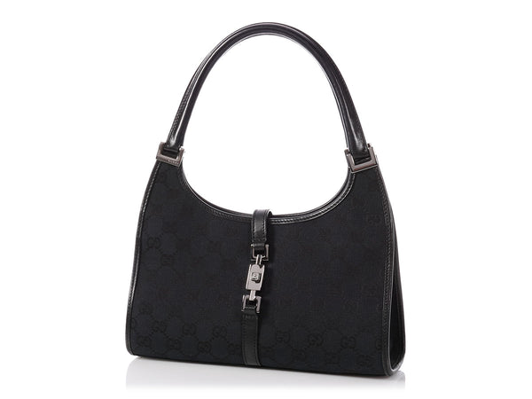 Gucci Small Black Monogram Bardot Bag