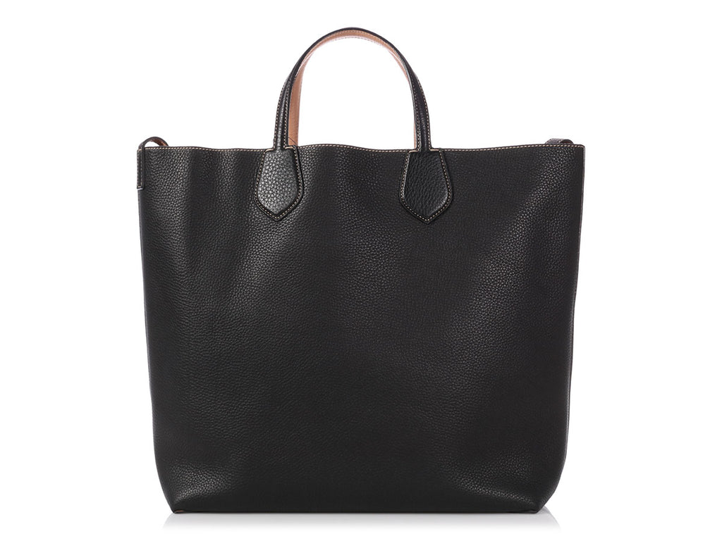 Gucci Black and Rose Beige Ramble Reversible Tote