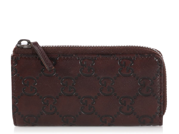 Gucci Brown Guccissima Key Case