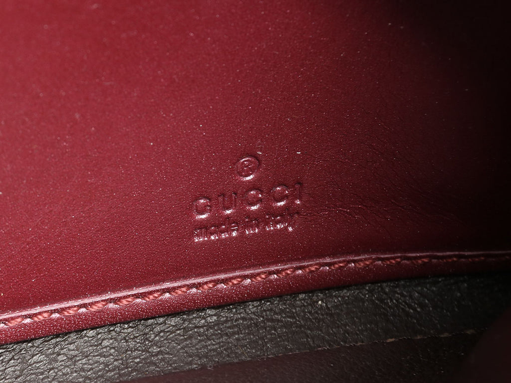 Gucci Red Patent MicroGuccissima Wallet