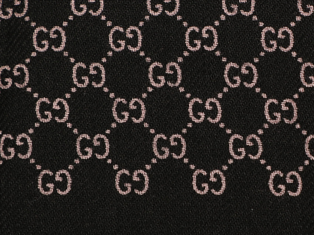Gucci Black Monogram Stole