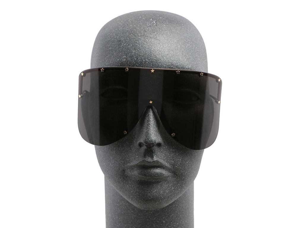Gucci Star Trimmed Shield Sunglasses
