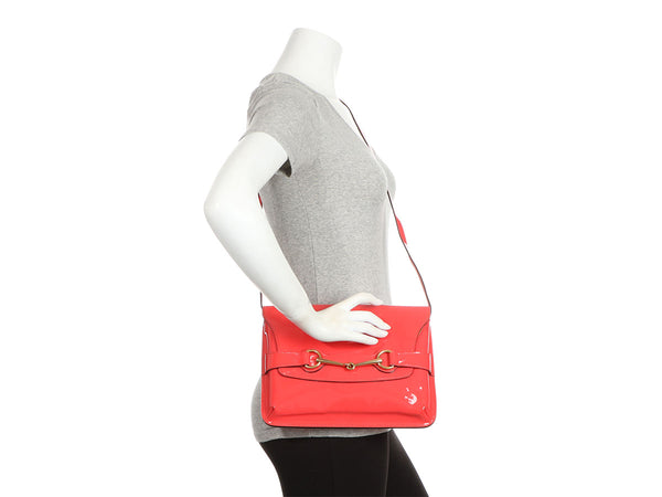 Gucci Coral Patent Bright Brit Crossbody Bag