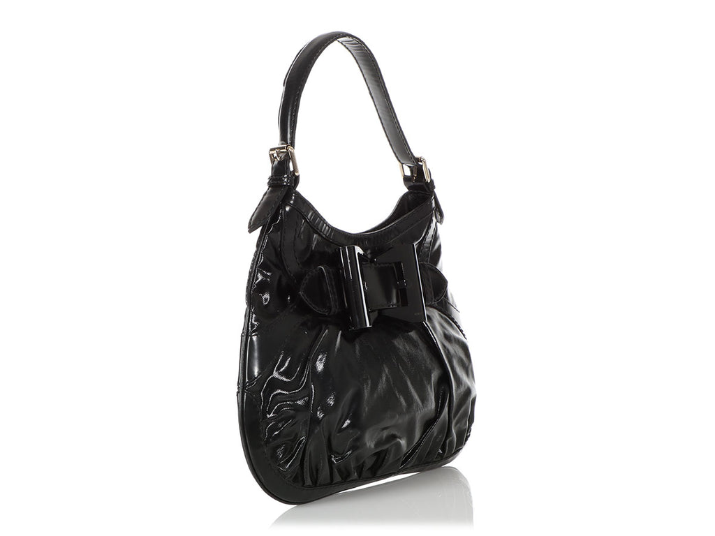 Gucci Black Dialux Queen Hobo