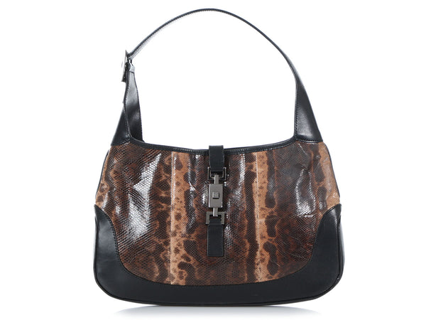 Gucci Lizard Jackie O Shoulder Bag