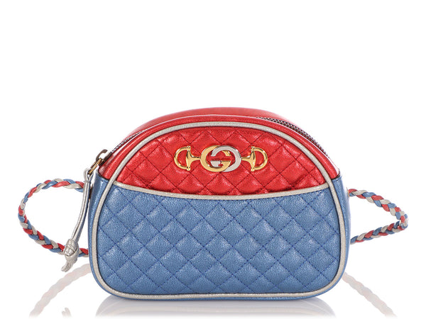 Gucci Mini Quilted Metallic Trapuntata Crossbody Bag