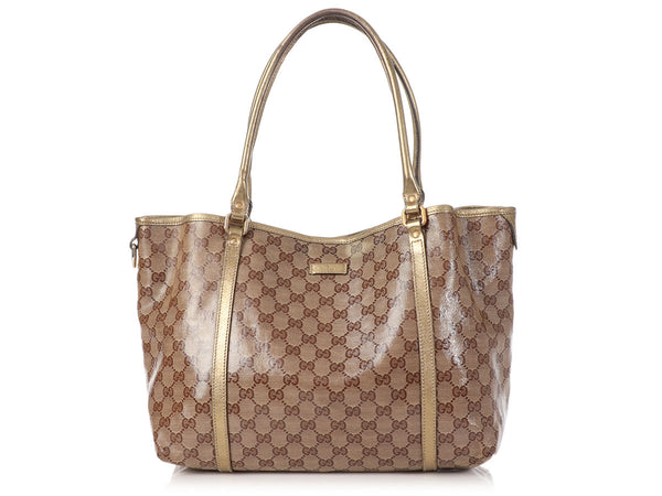 Gucci Bronze Crystal Canvas Tote