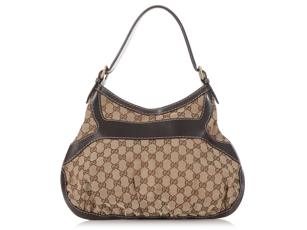 Gucci Brown GG Canvas Queen Bow Hobo