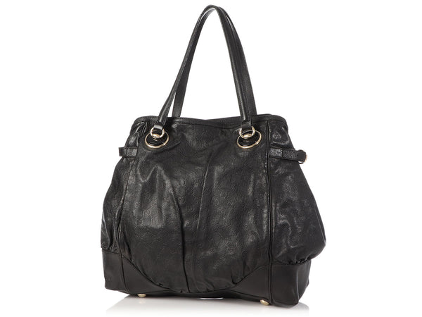 Gucci Black Guccissima Full Moon Tote