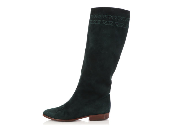 Gucci Green Suede High Boots