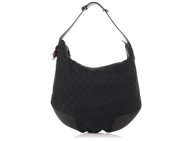 Gucci Black Canvas Princy Hobo