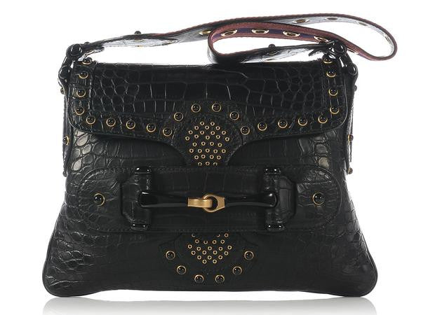 Gucci Black Alligator Bag