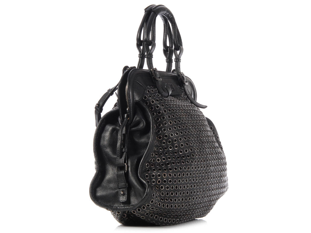 ad8f1fbb90 Givenchy Large Black Icon Eyelet Bag - Ann s Fabulous Closeouts