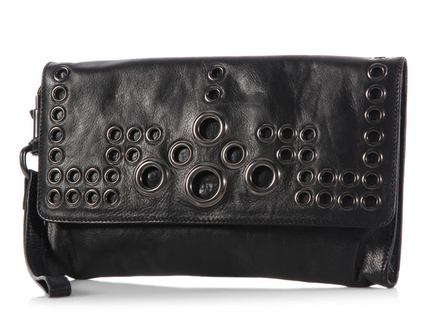 Givenchy Black Grommet Clutch
