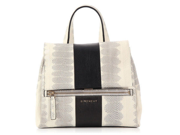 Givenchy Black and Cream Snakeskin Pandora Pure