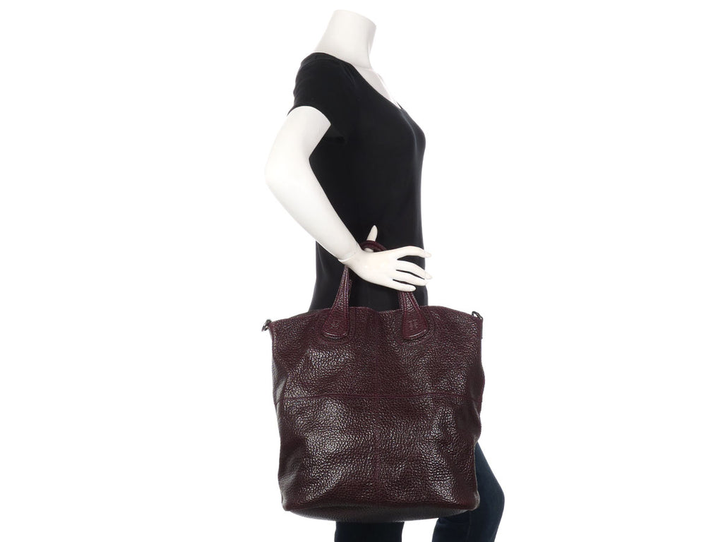Givenchy Maroon Nightingale Shopper Tote