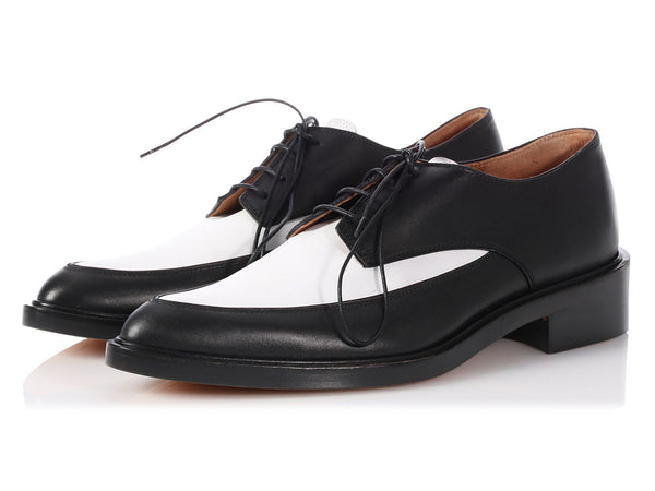 Givenchy Black and White Derby Shoes