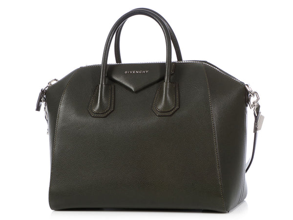 Givenchy LE Medium Bottle Green Sugar Goatskin Antigona
