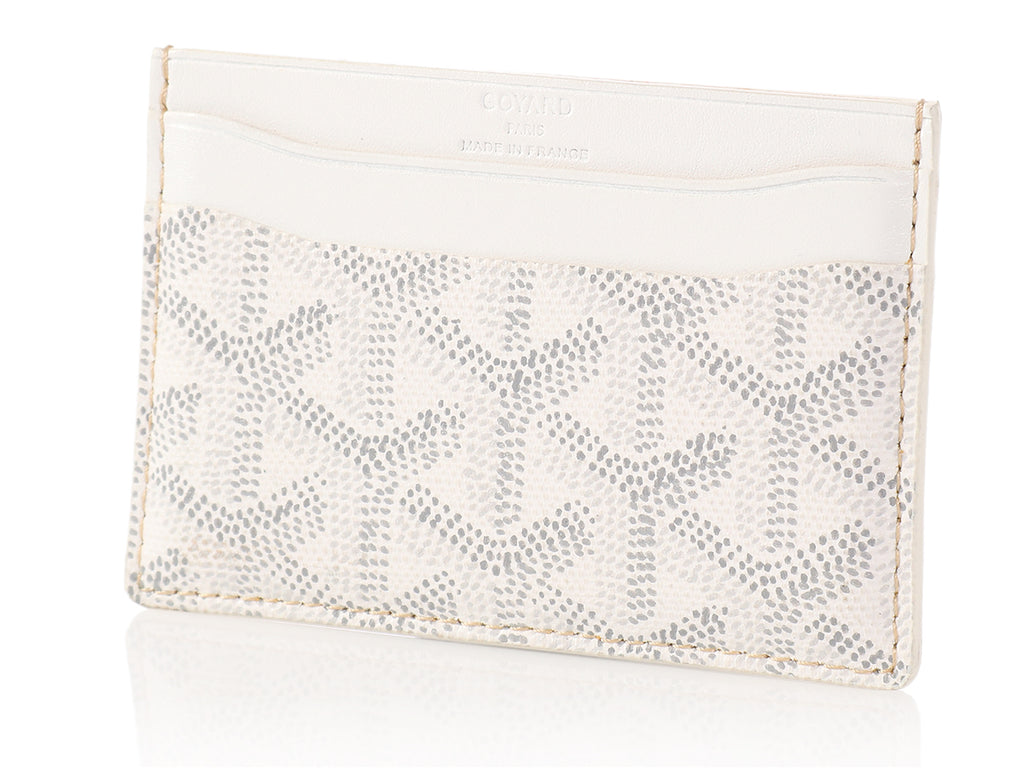 Goyard White Card Case