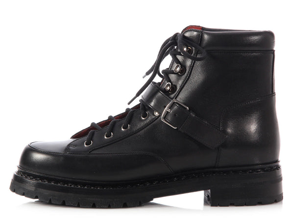 Hermès Black Hiking Boots