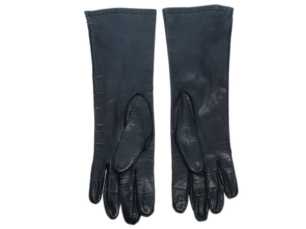 Hermès Midnight Leather Gloves