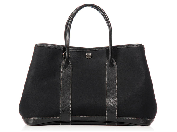 Hermès Black Canvas Garden Party TPM