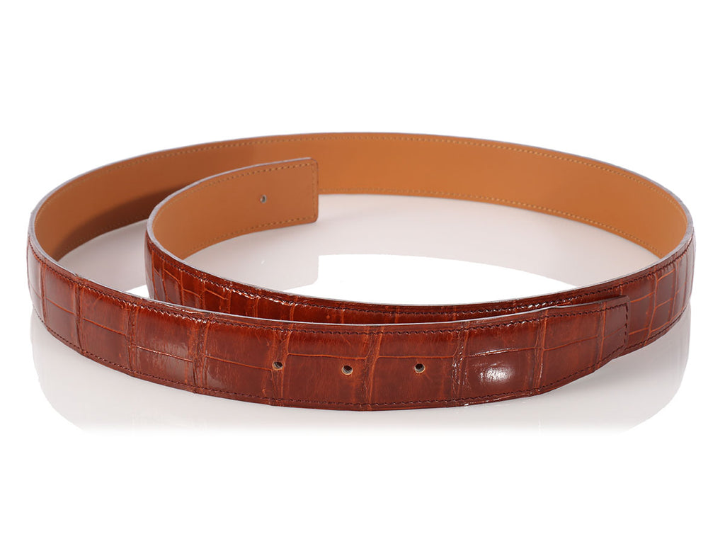 Hermès Brown Alligator Medor Belt