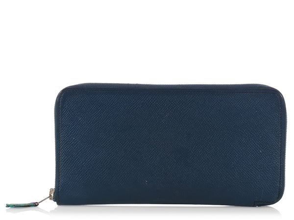 Hermès Bleu de Malte Long Silk'in Wallet