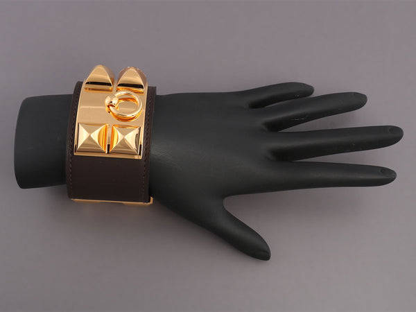 Hermès Chocolate Collier de Chien Bracelet
