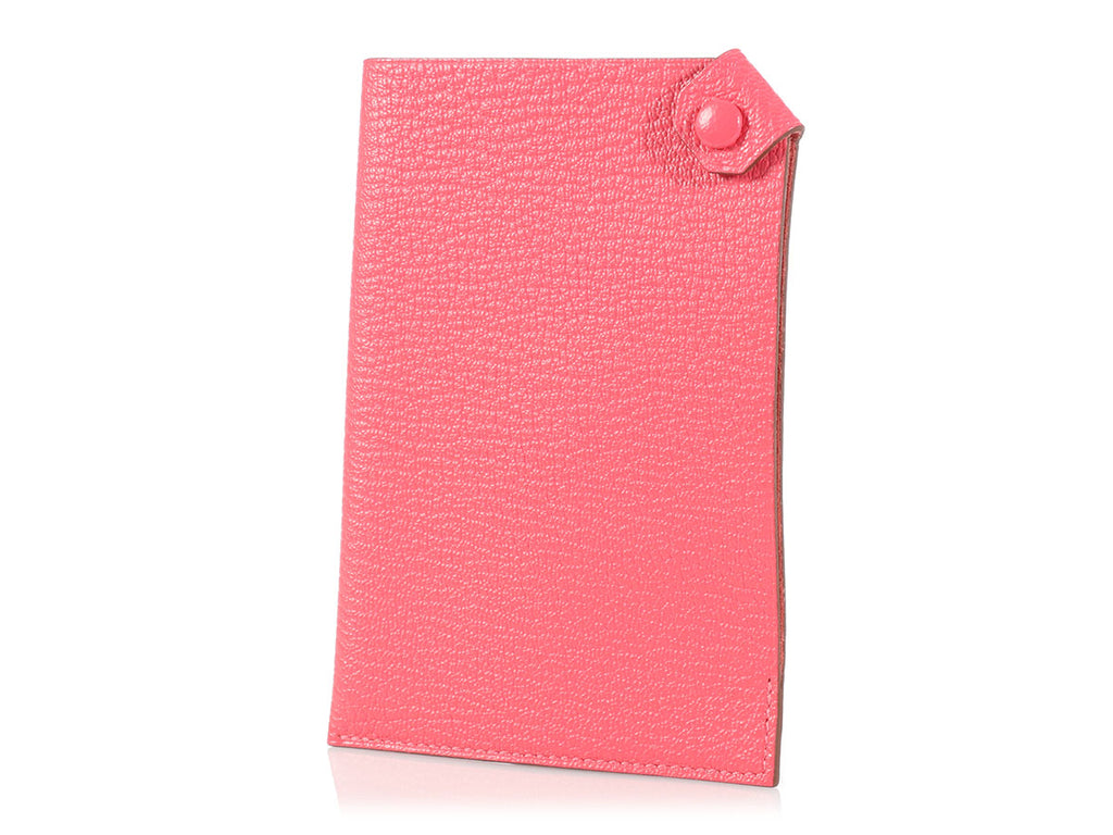 Hermès Rose Lipstick Tarmac Passport Holder