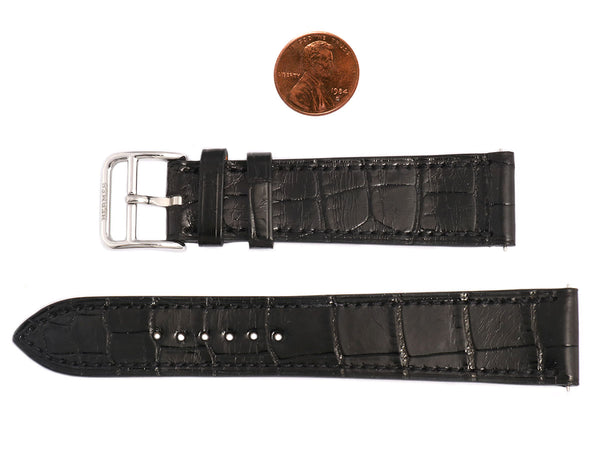 Hermès Black Alligator H Hour MM Watch Strap