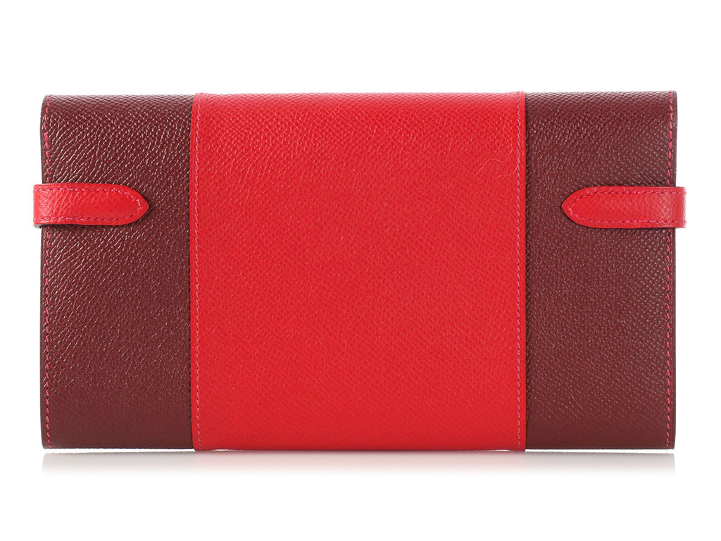 Hermès Rouge Casaque and Rouge H Kelly Flag Wallet