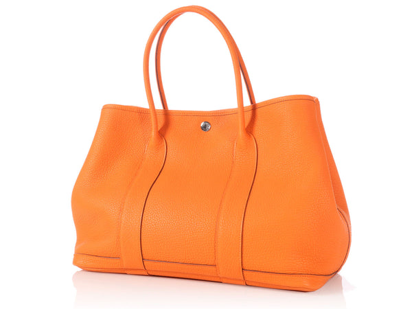 Hermès Orange Garden Party MM 36