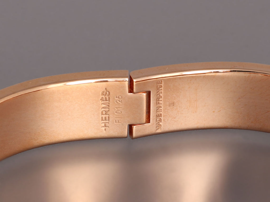 Hermès Narrow Blue/Gray Clic-Clac Bracelet