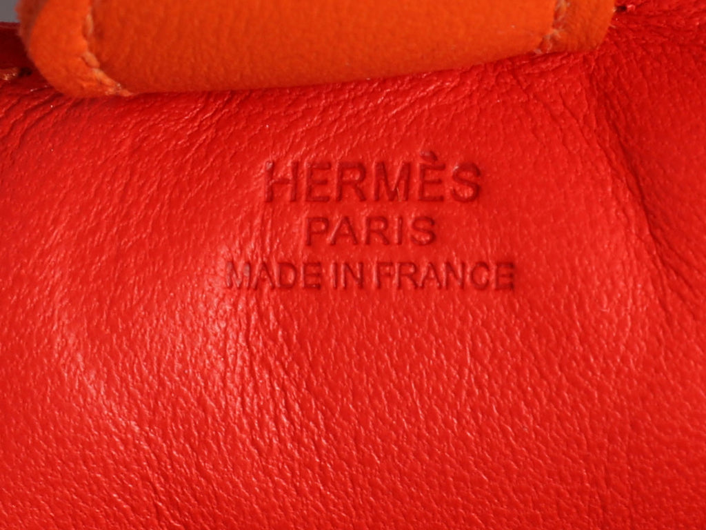 Hermès Red, Pink, and Orange Lambskin Grigri Rodeo Horse Bag Charm PM