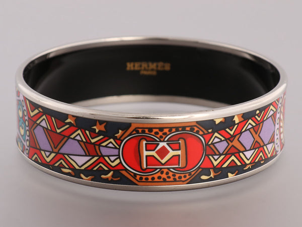 Hermès Wide Scheherazade Enamel Bangle PM