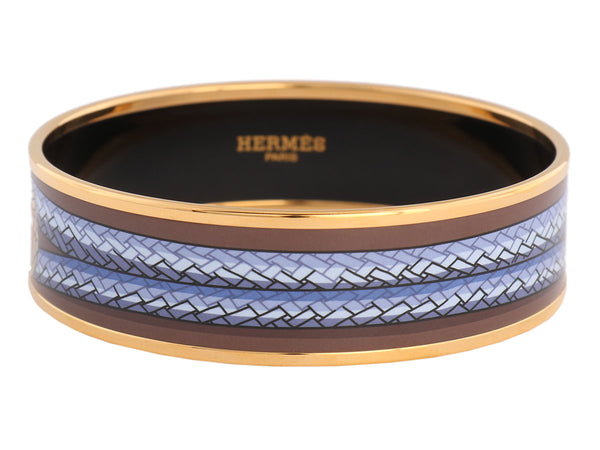 Hermès Wide Brandenbourg Enamel Bangle PM