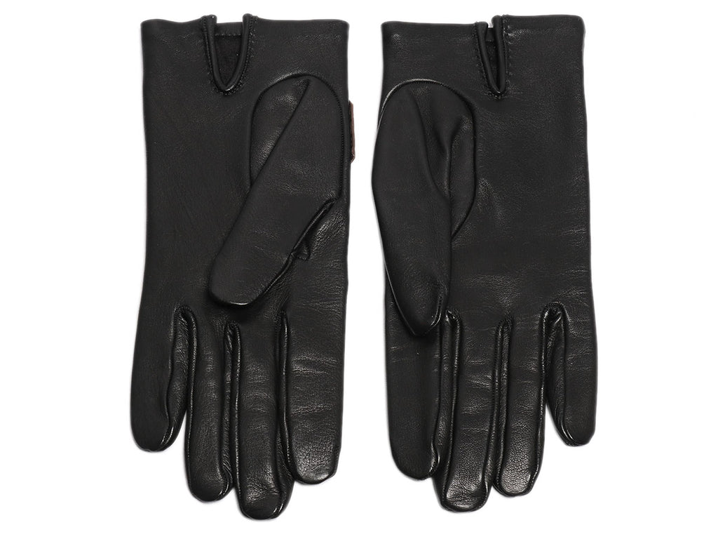 Hermès Black Lambskin Fantasy Gloves