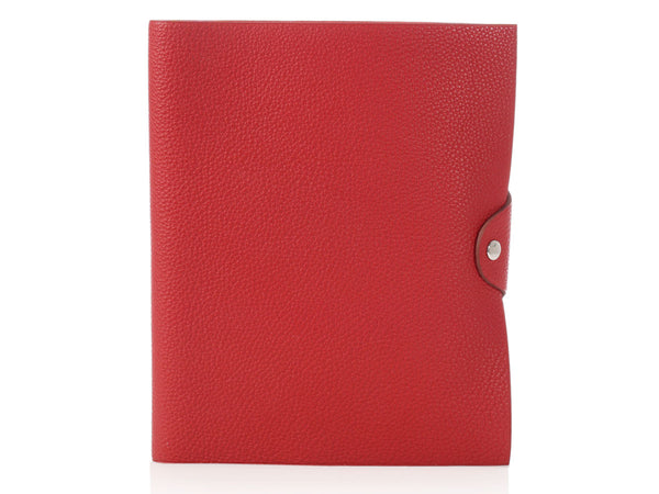Hermès Rouge Garance Ulysse Notebook Cover MM