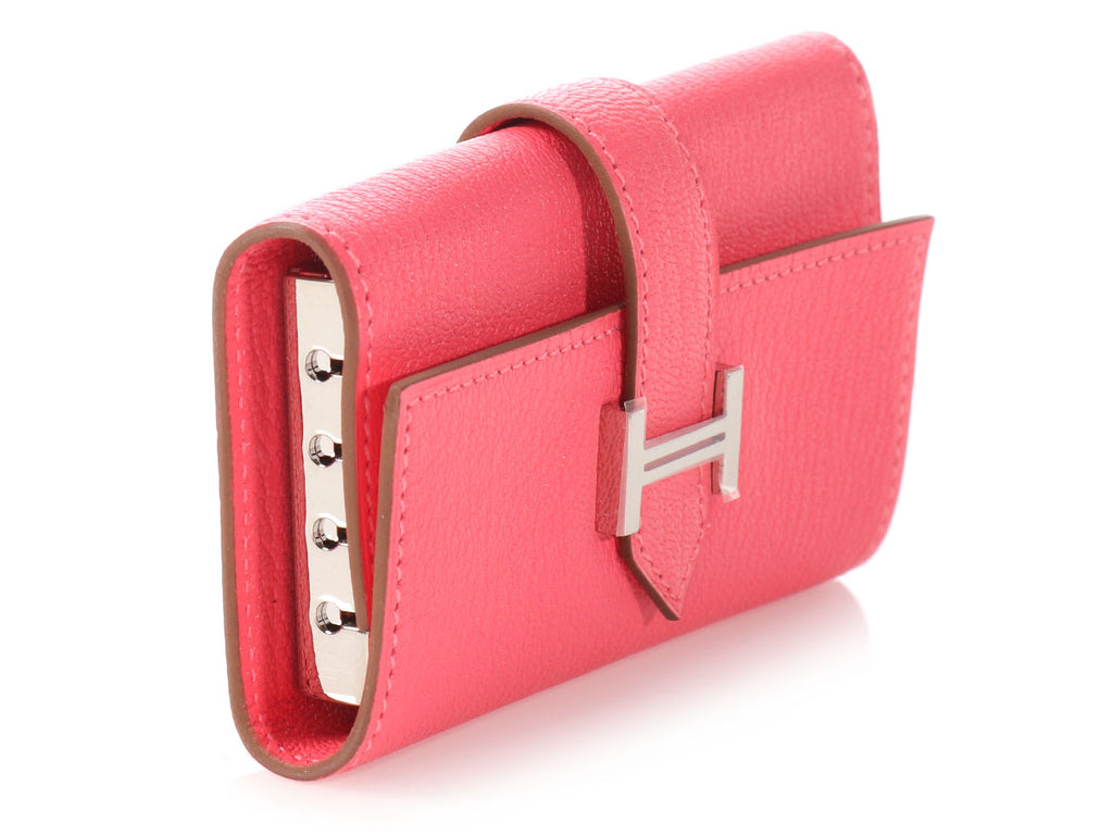 Hermès Rose Lipstick Chèvre Béarn Key Holder