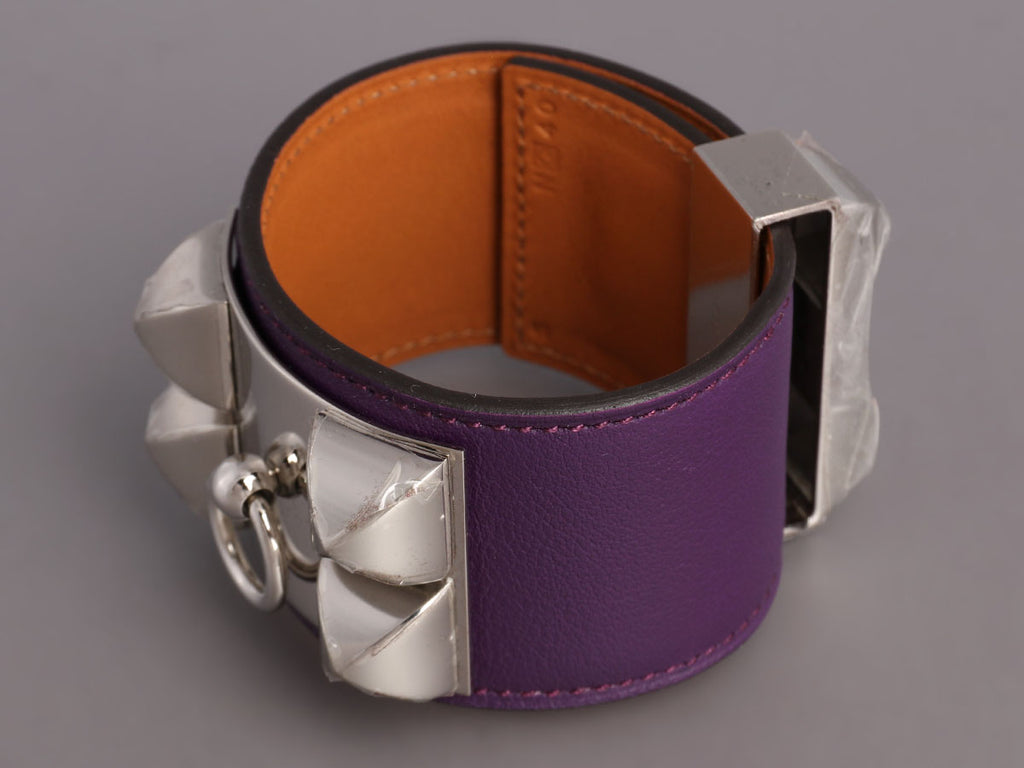 Hermès Purple Swift Collier de Chien CDC Bracelet