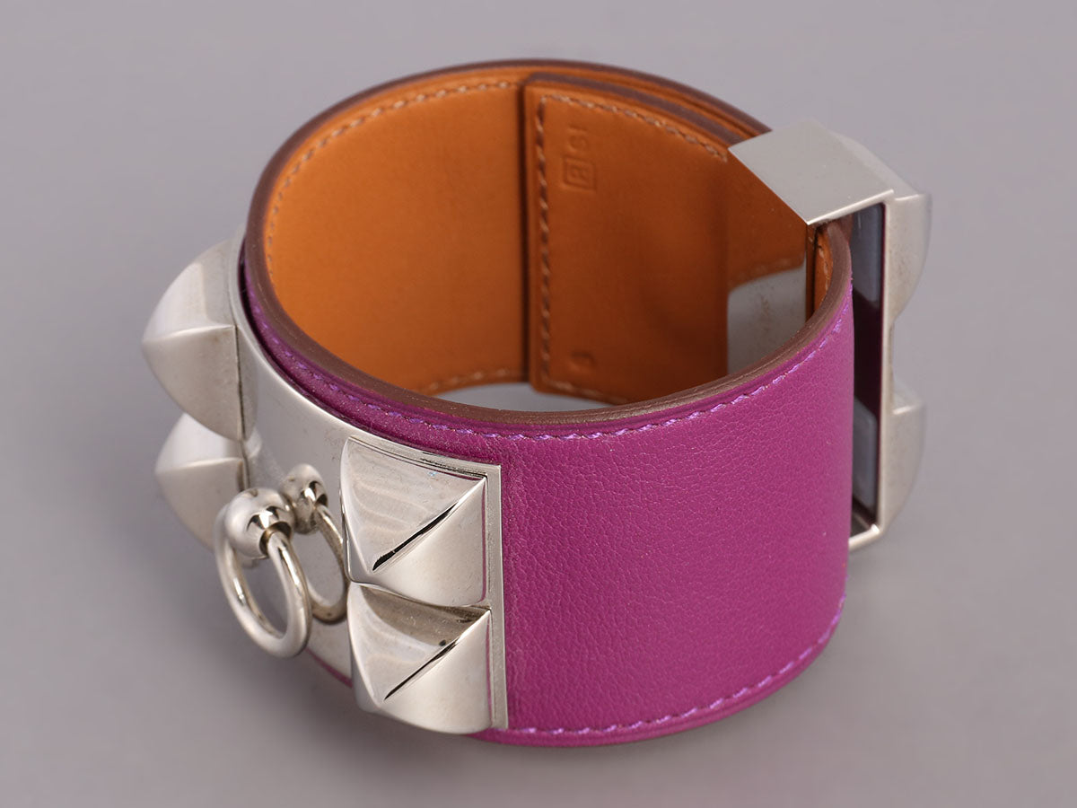 Hermès Anemone Swift Collier de Chien CDC Bracelet