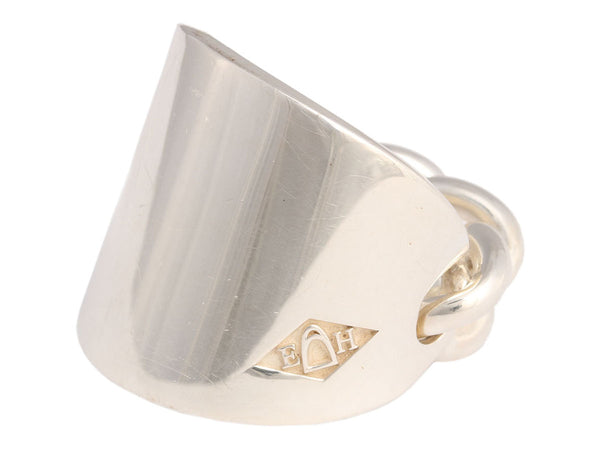 9663158b2 Hermès Sterling Silver Bague Querelle Ring ...