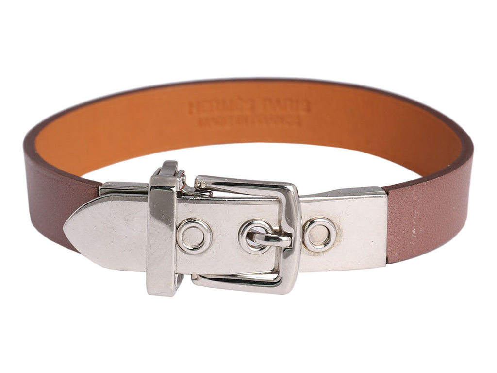 Hermès Taupe Swift Java 10 Bracelet PM
