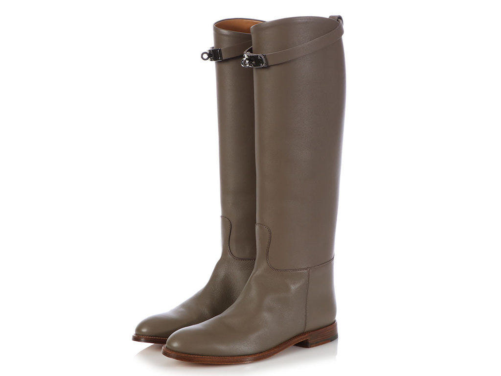 Hermès Etain Swift Jumping Boots