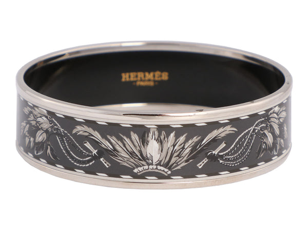 Hermès Wide Brazil Enamel Bangle 65