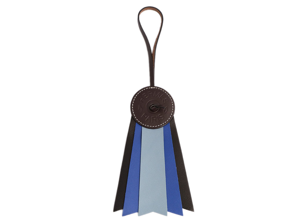 Hermès Blue and Black Paddock Flot Ribbon Bag Charm